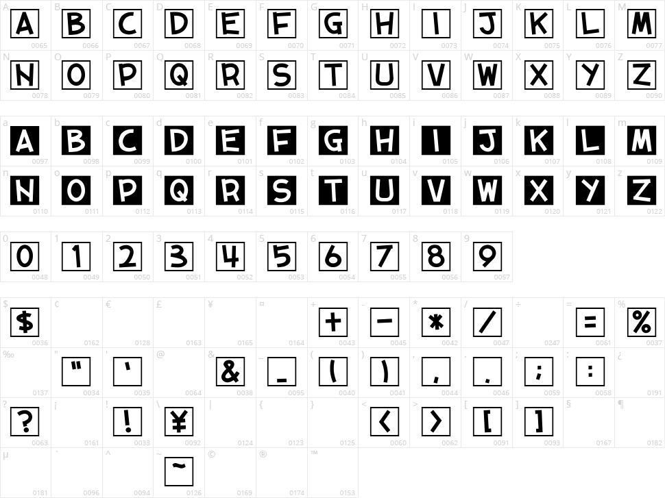 01 Tama + Cube vol.2 Character Map