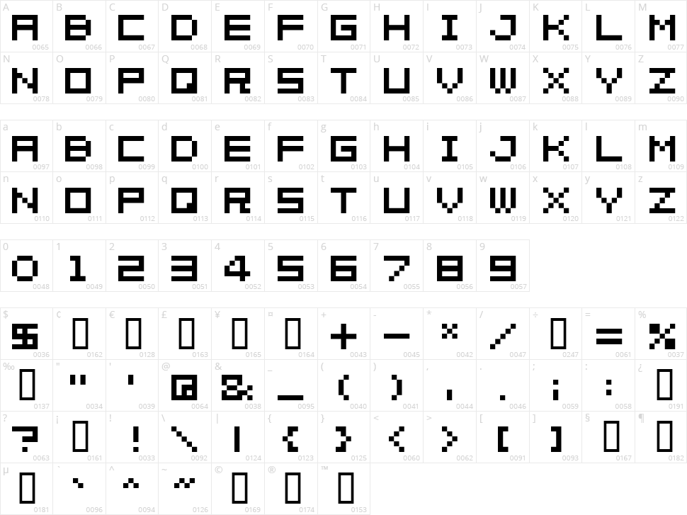 04b_08 Character Map