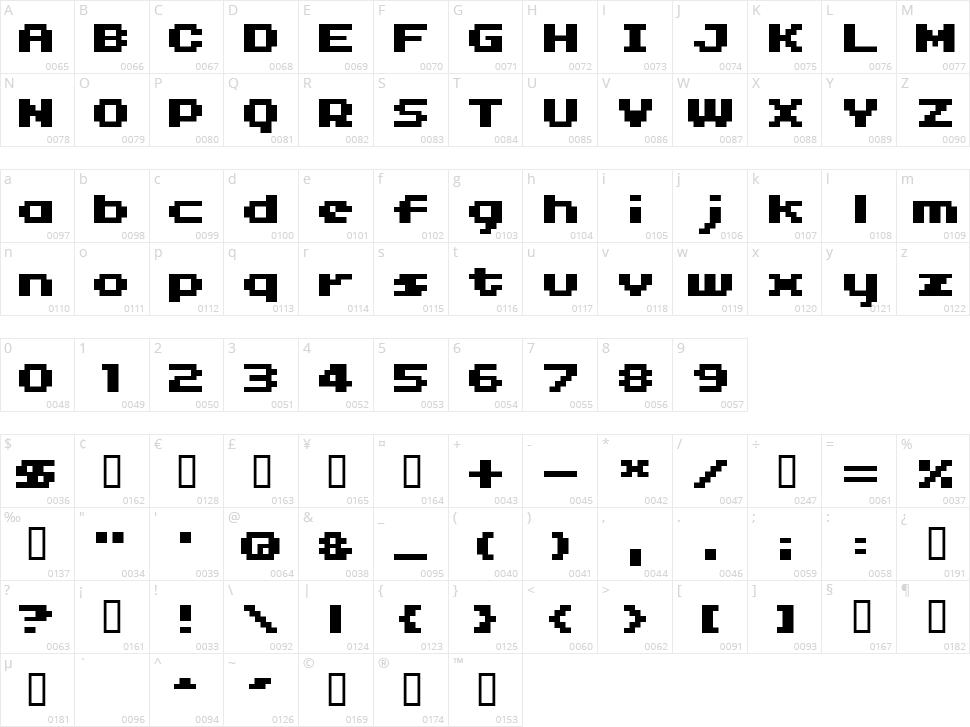 04b_11 Character Map