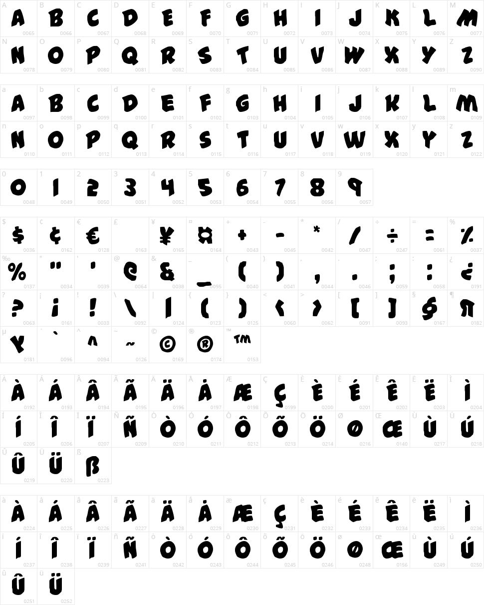 #44 Font Character Map