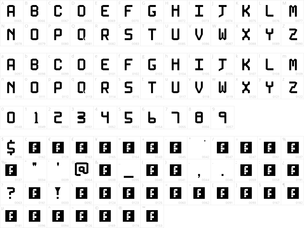 5 Kallum Sans Neue Character Map