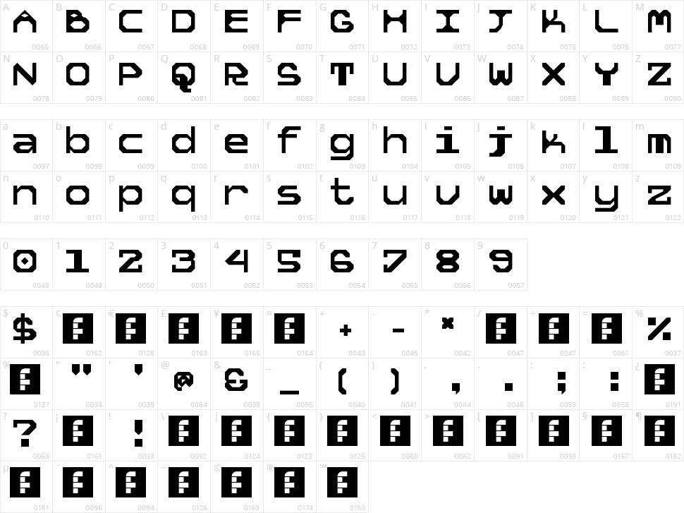 5 Tekknosystem Character Map