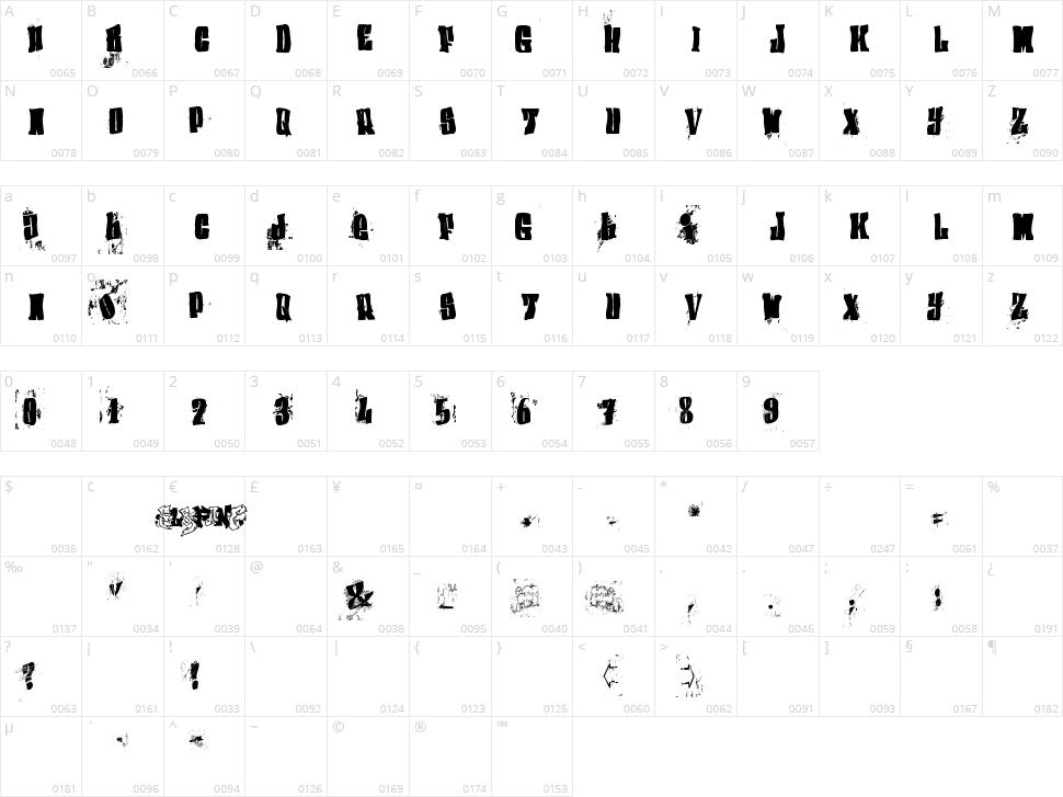 (el&font BLOCK) Character Map