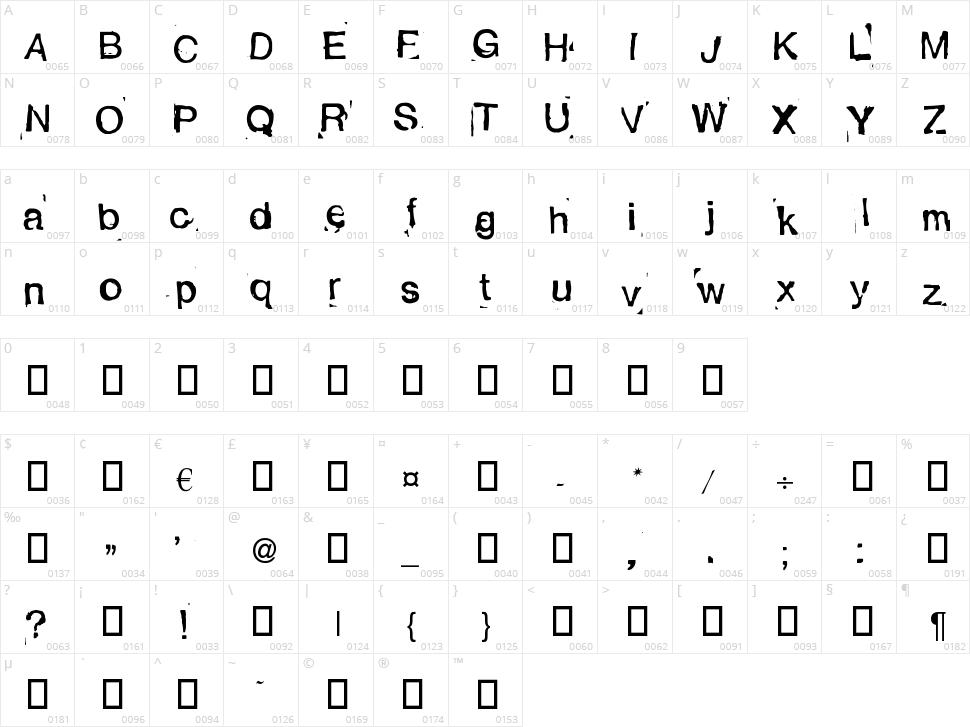 Alexandras Stempelkasten Character Map