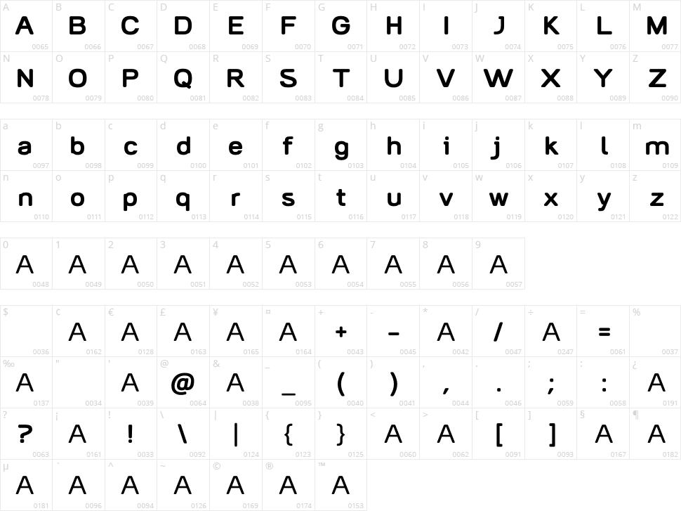 AliciOne Character Map
