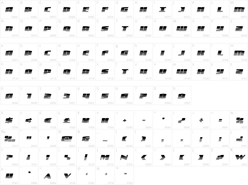 Alpha Century Character Map