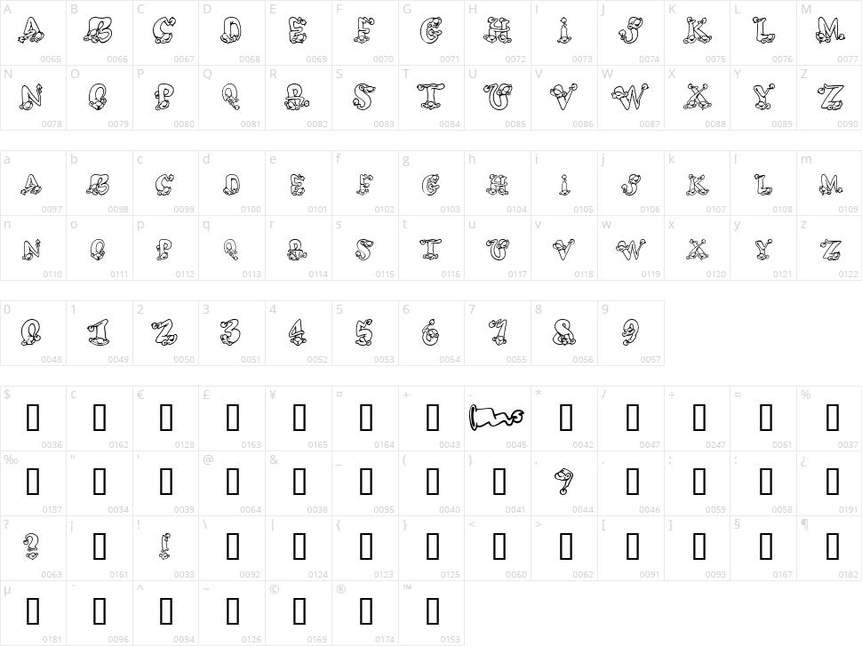 AlphaElfin Character Map