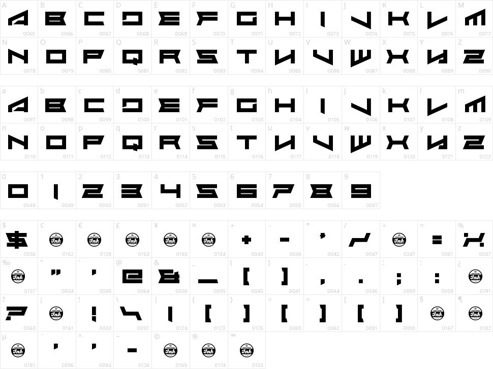 Assvssin Character Map