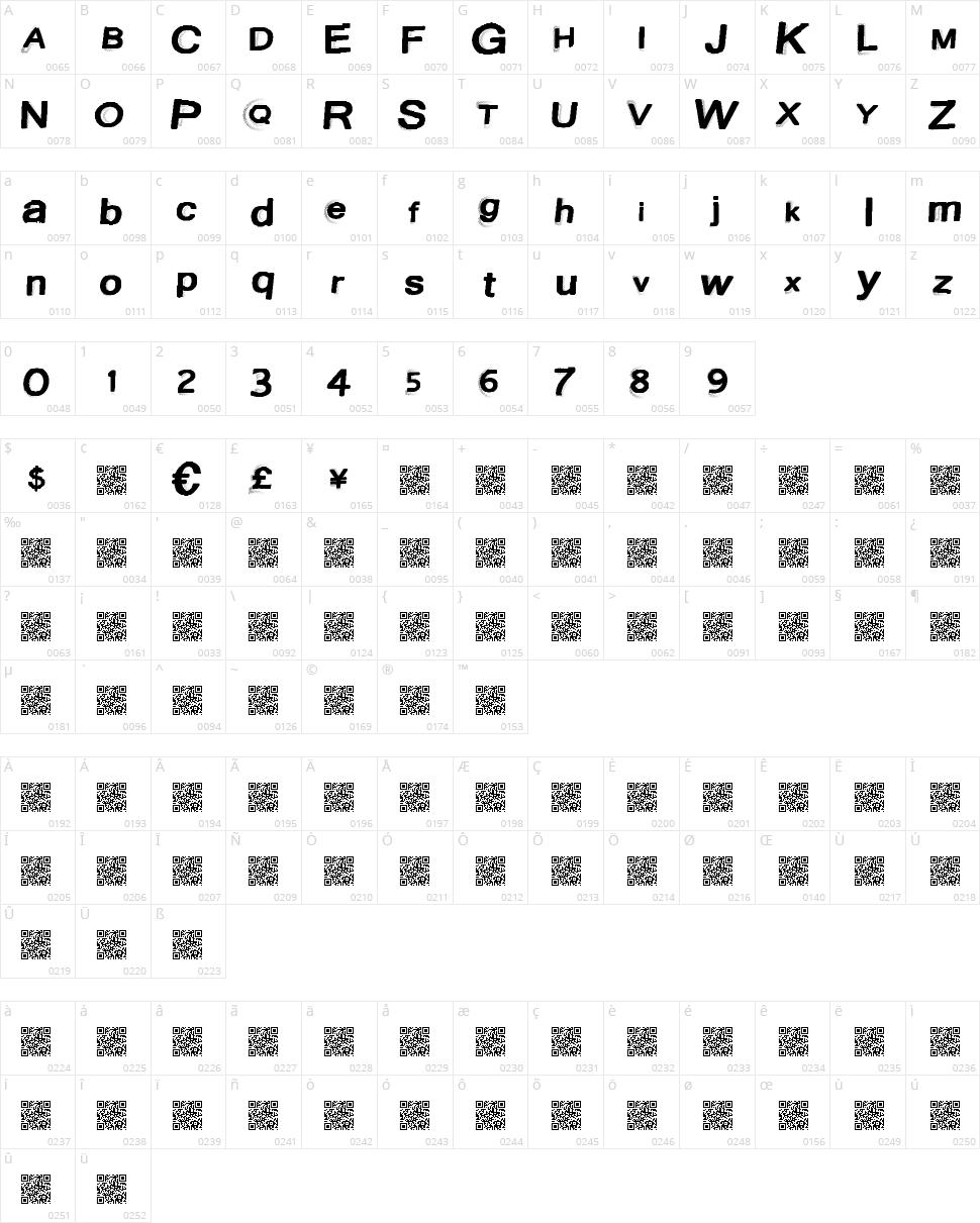 Austin Lights Character Map