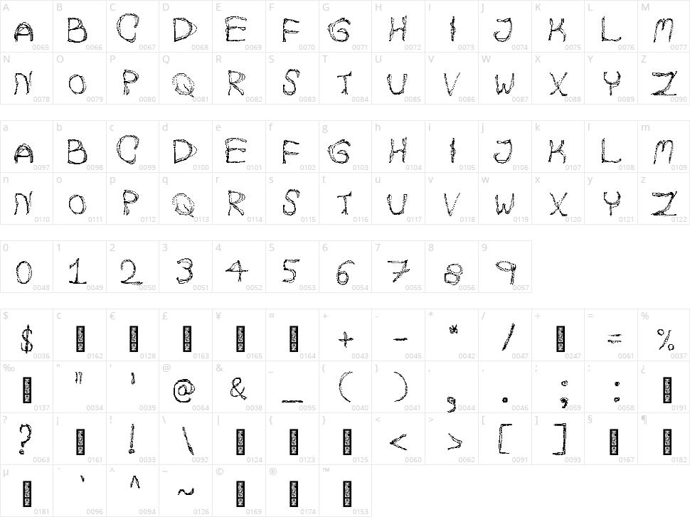 Autumn Pixels Character Map