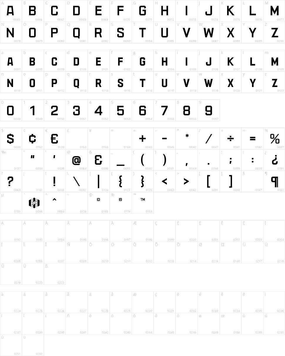 AzureoN Character Map