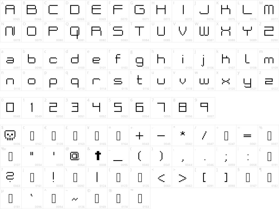 Bakeneko Character Map