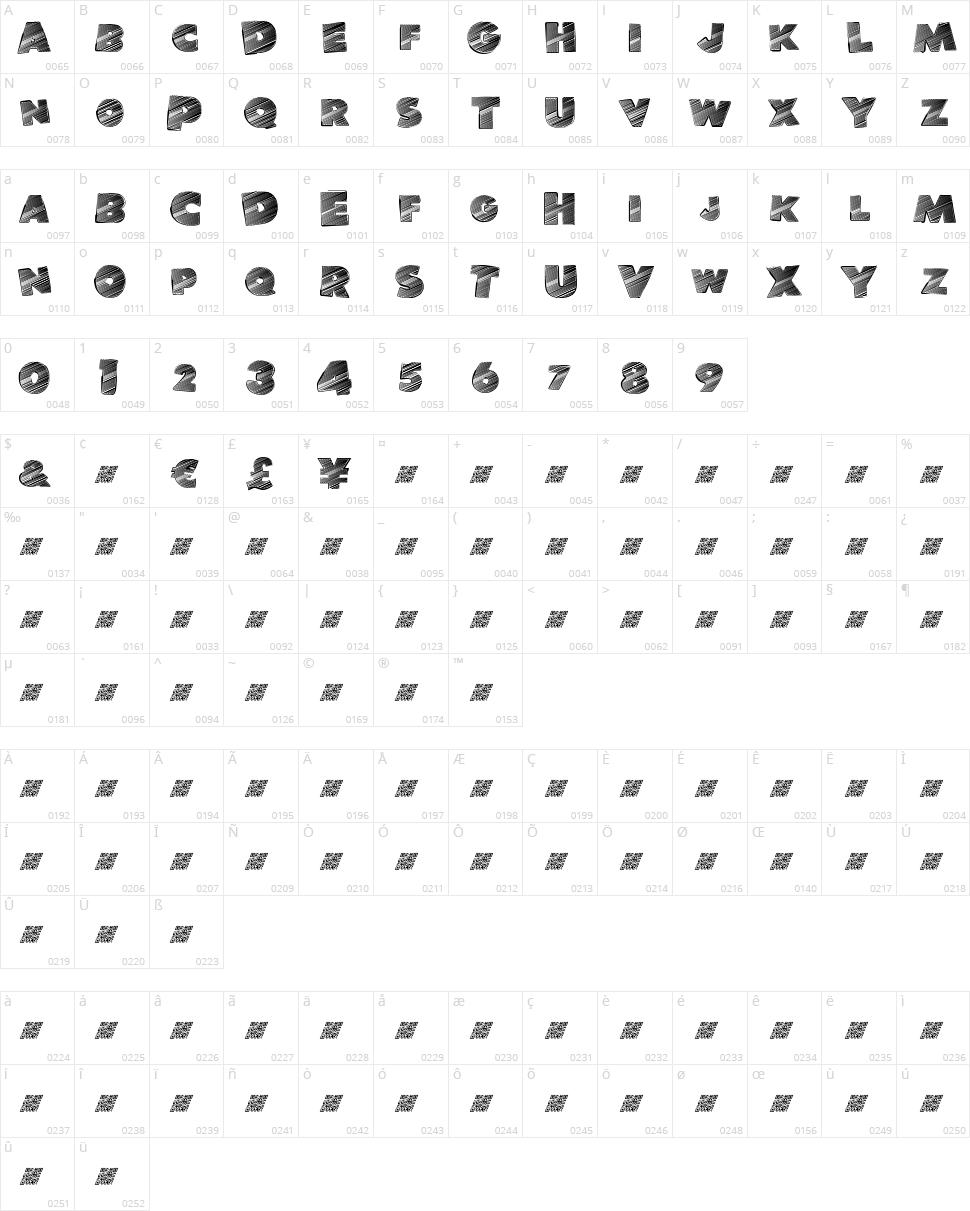 Banlieue Disco Character Map