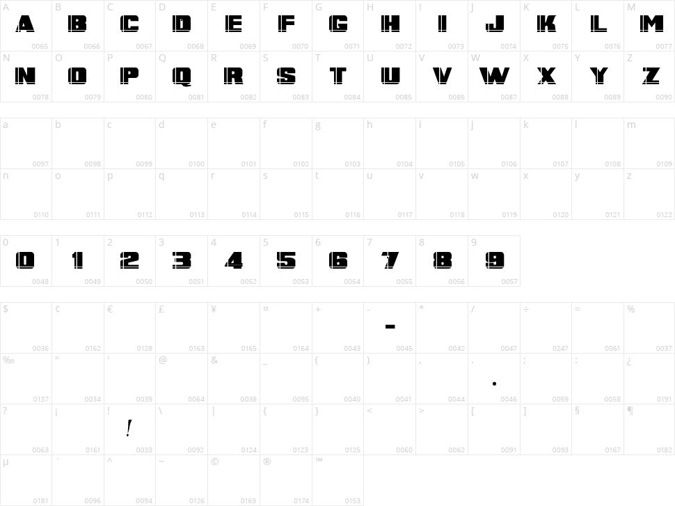 Banner Script Character Map