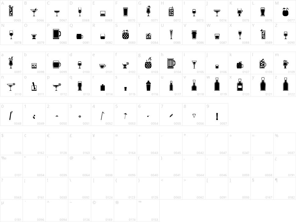 Bar Book Character Map