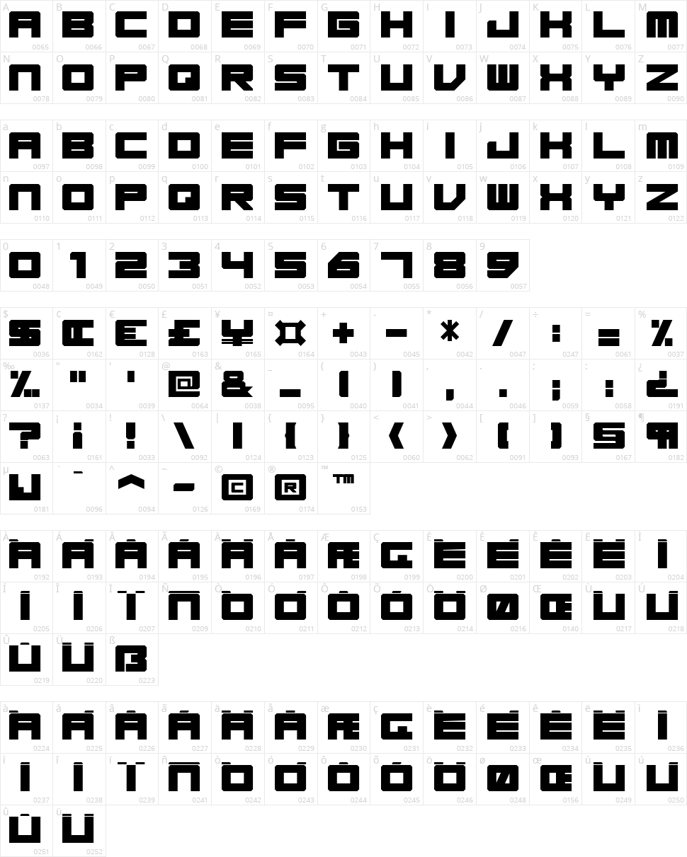 Base 45 Character Map