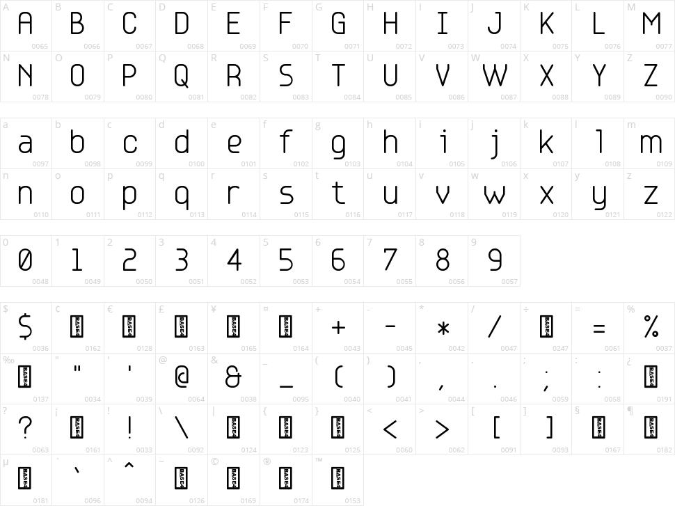 Base 4-5-6 Character Map