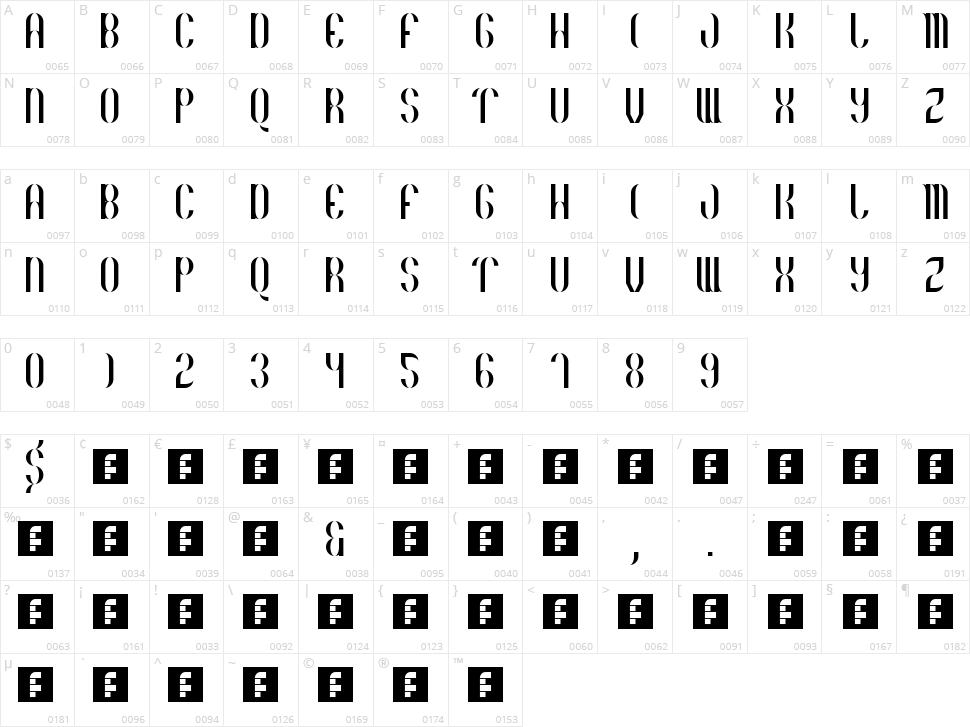 Basico 1983 Character Map