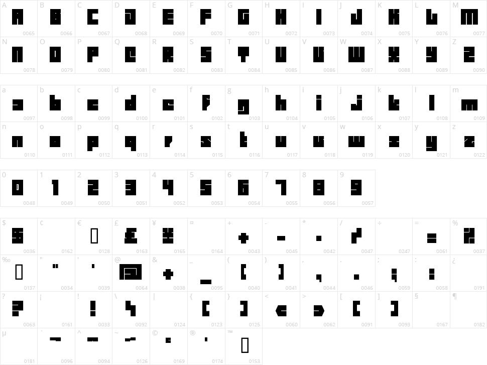 BD Billding Character Map