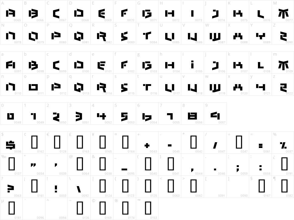 Bedlam Remix Character Map