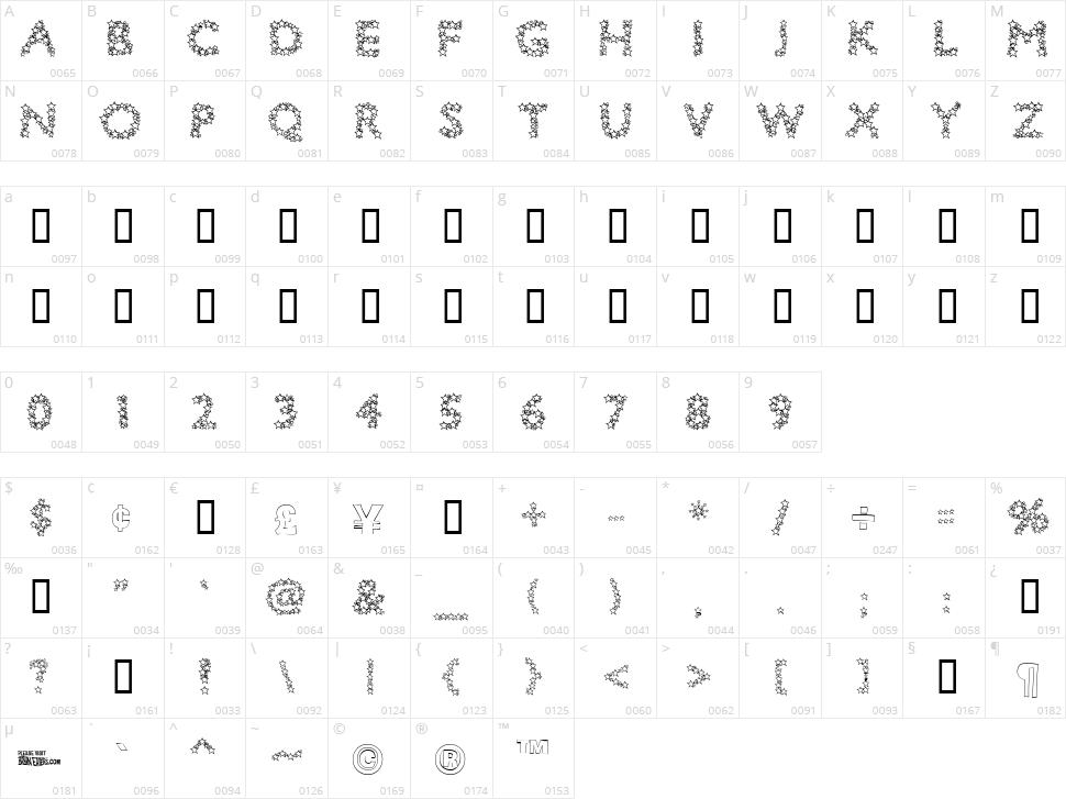 Bingo Star Character Map