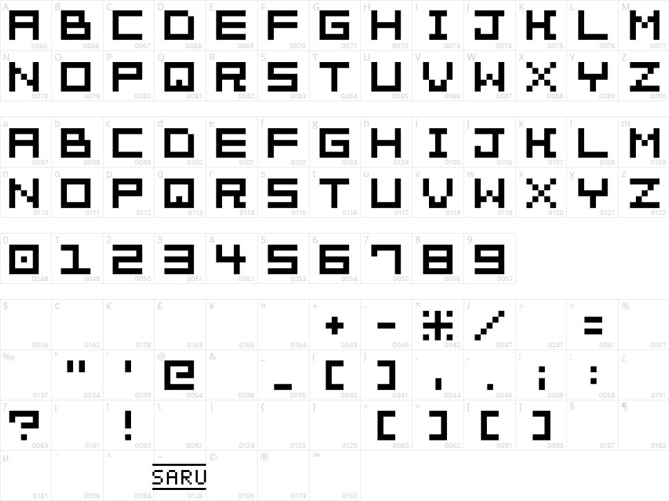 Bit Trip 7 Character Map