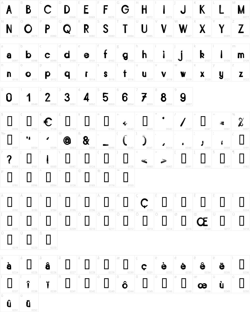 Bitume Character Map