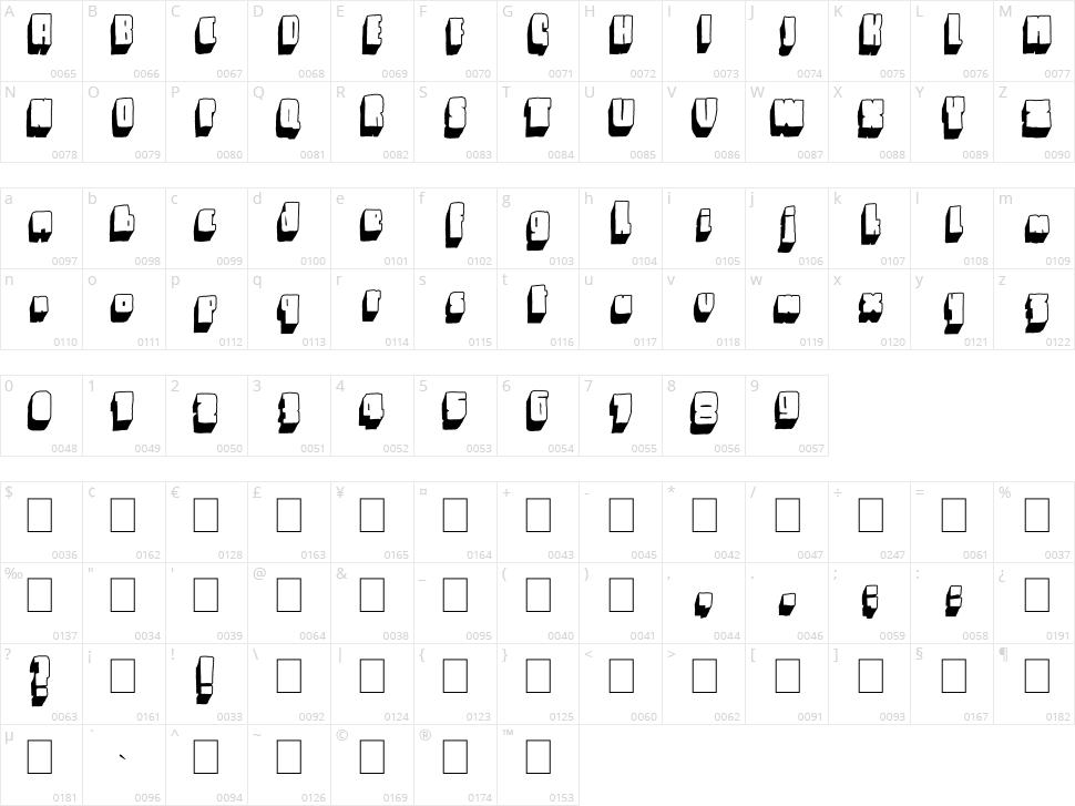 Blck Character Map