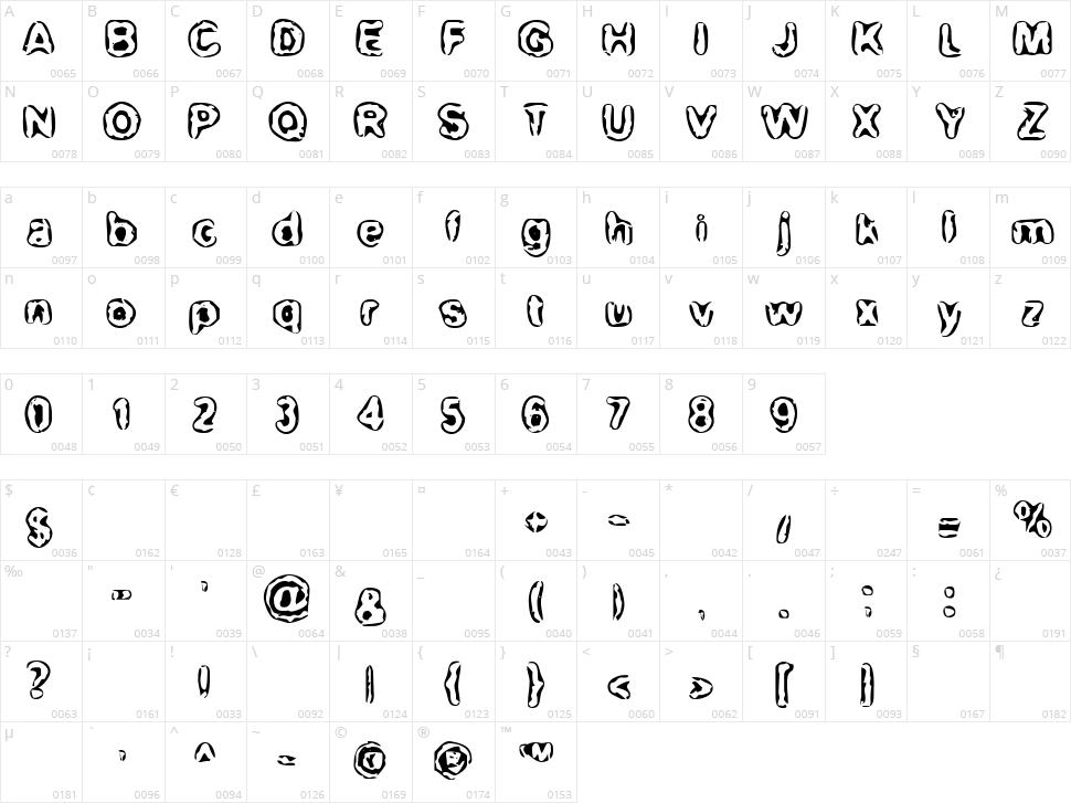 BN-Maxi Character Map