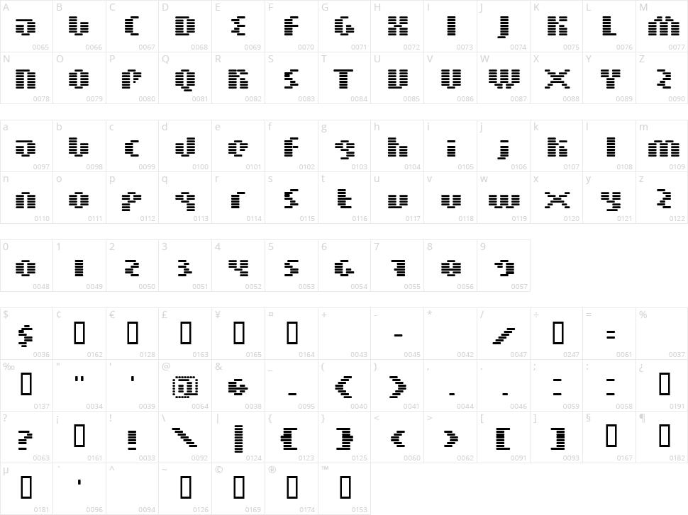 BN Moog Boy Character Map