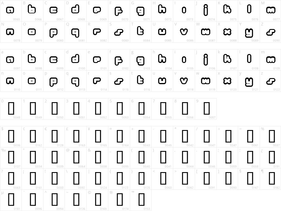 Bukkake Character Map
