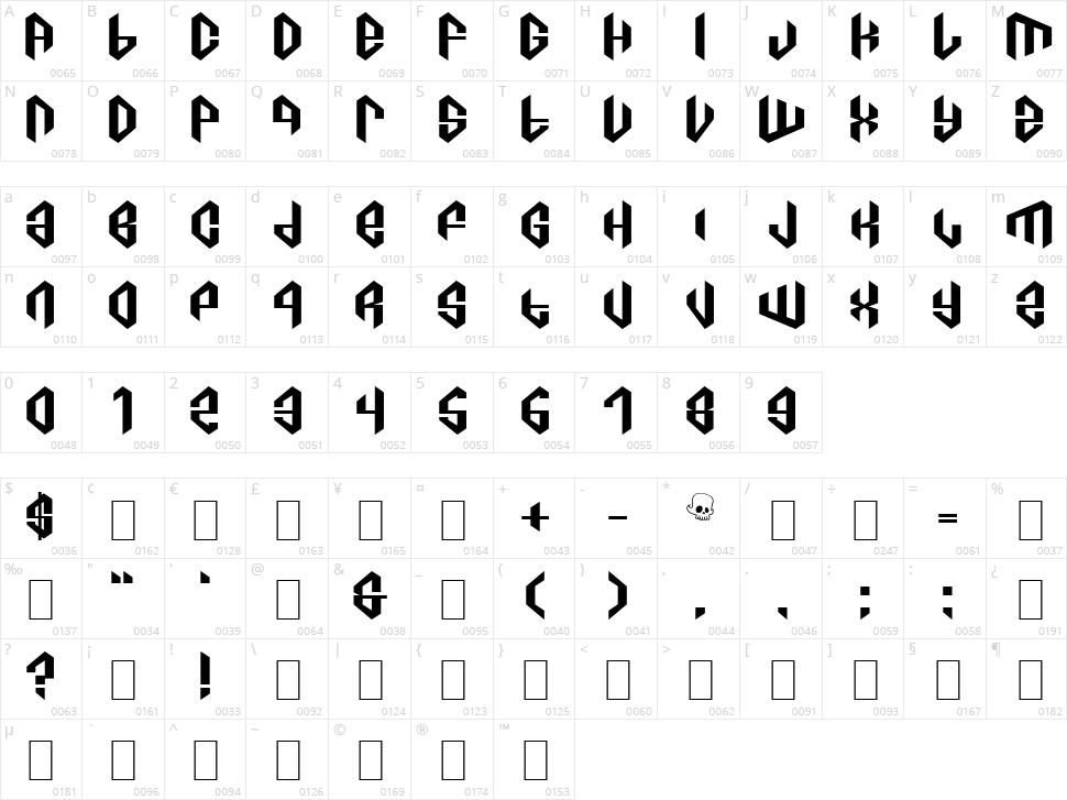 C8a Tajra Character Map
