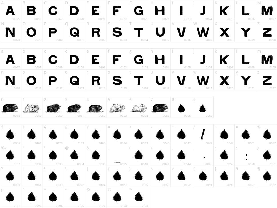 Cacavia01 Character Map