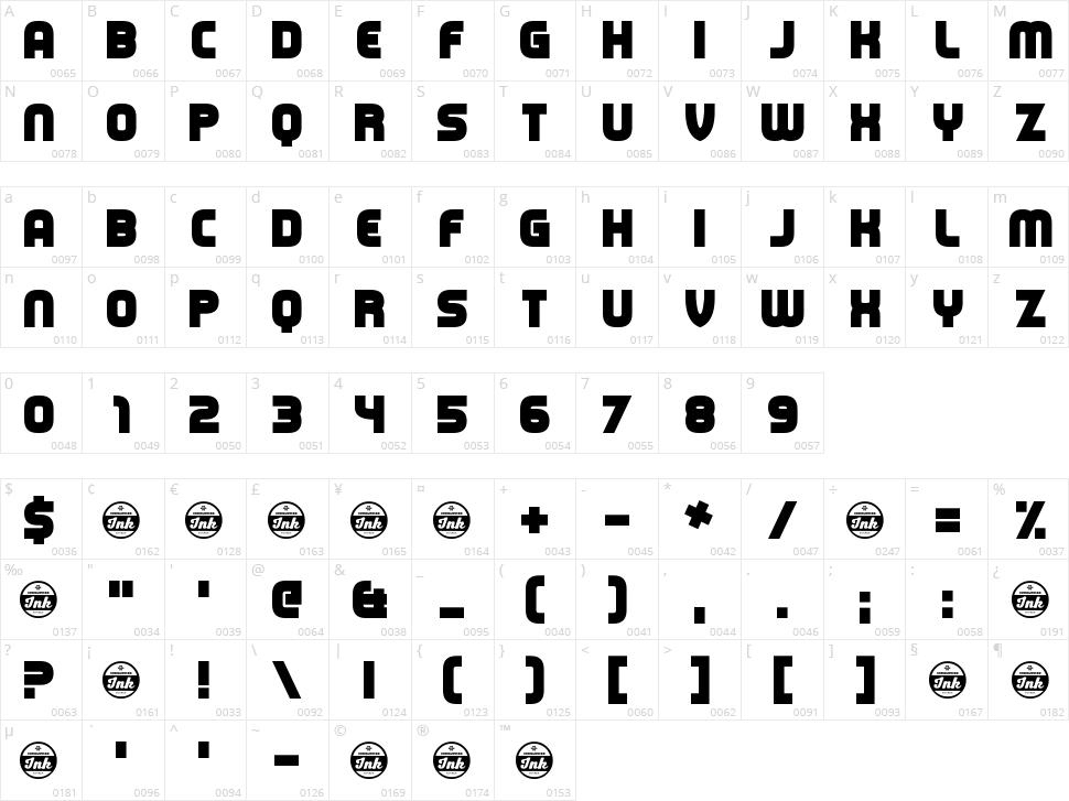 Capital Clickbait Character Map
