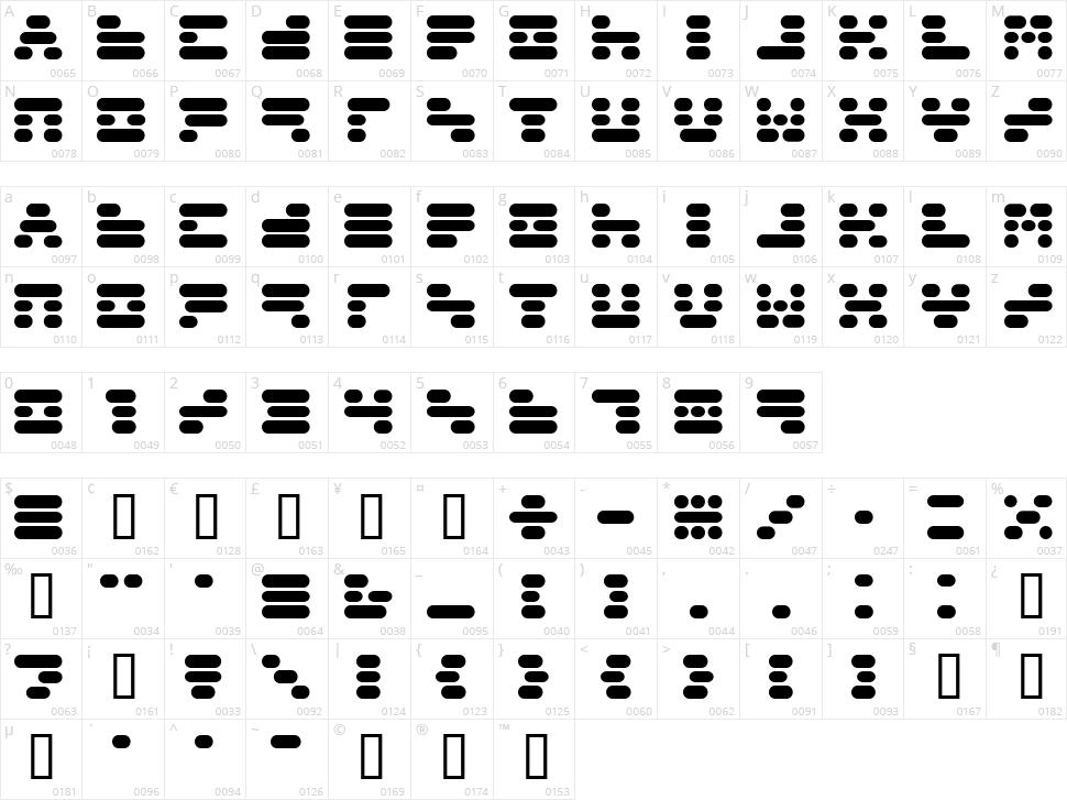 Capsule 3 Character Map