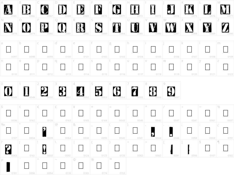 Carton Character Map