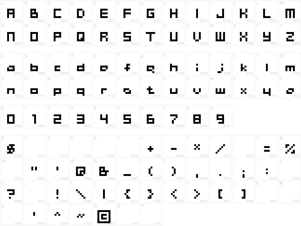 Chainreact Block Boxter Character Map