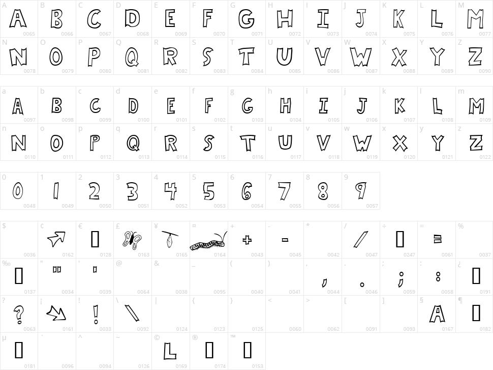 Chrysalis Character Map