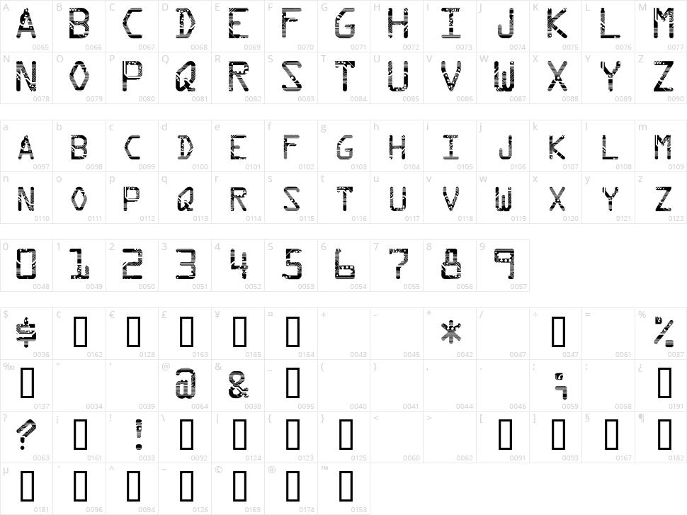 Circuit Character Map