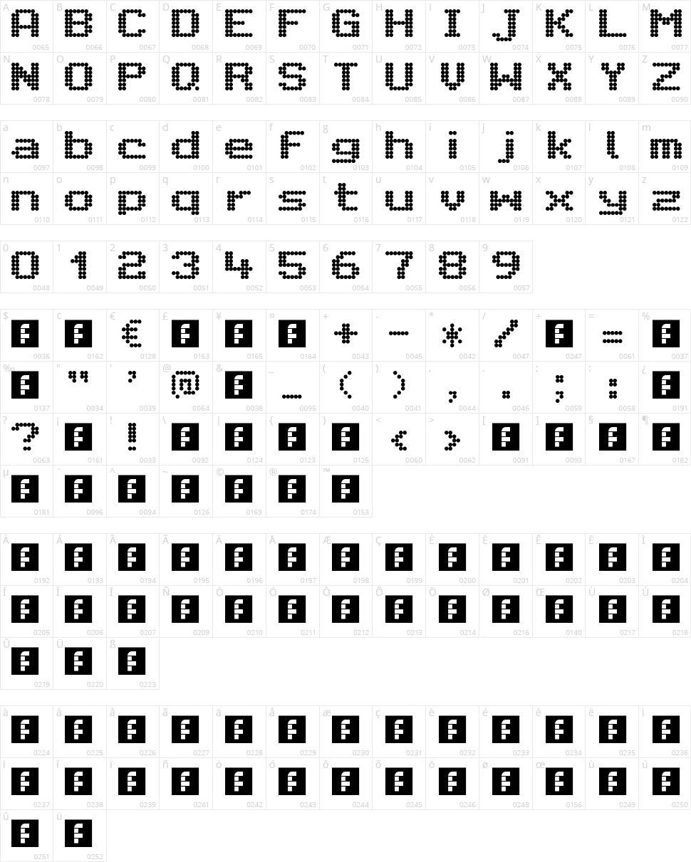Citaro Voor (Enkele hoogte, Breed) Character Map