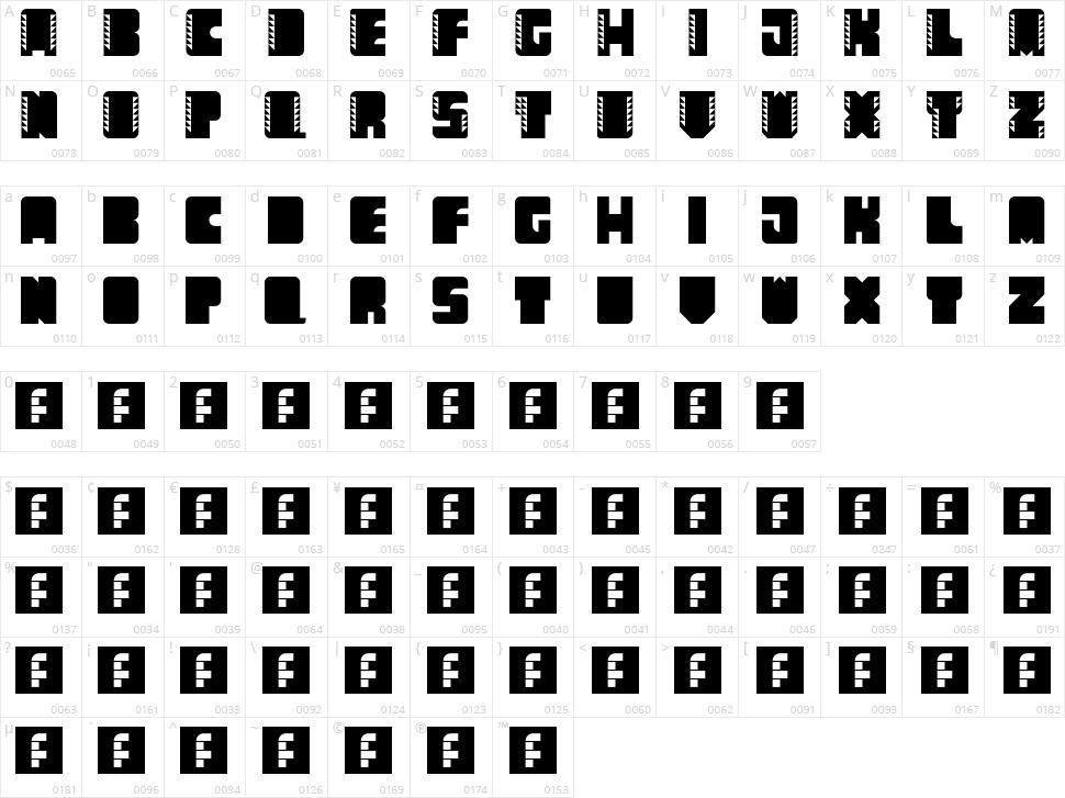 Come Callado Character Map