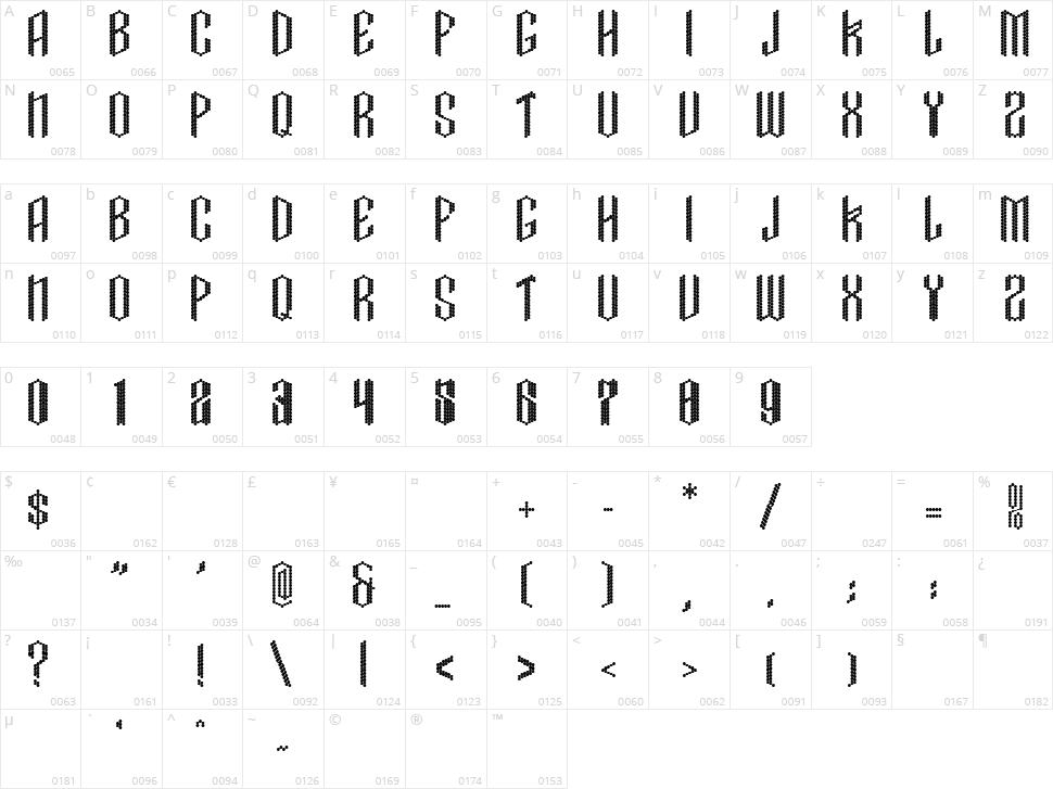 Crissco FP Character Map
