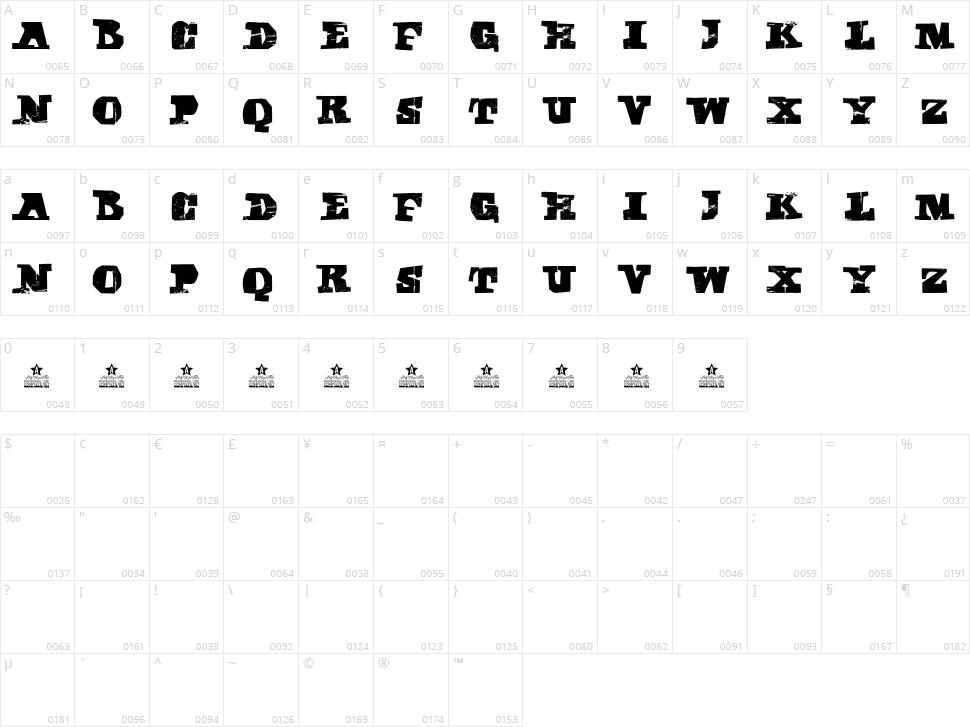 Cubika Script Character Map