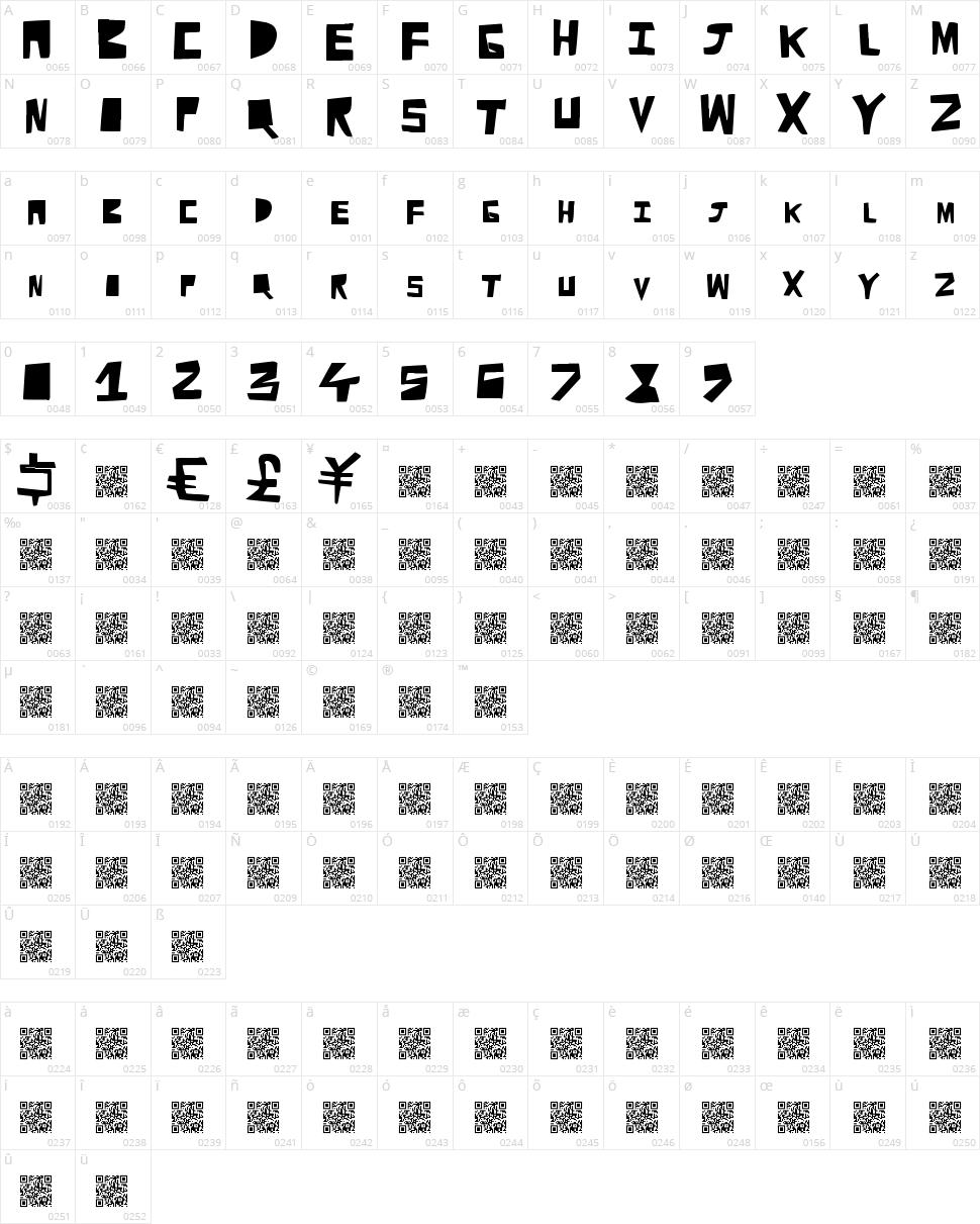 Cut Away Character Map