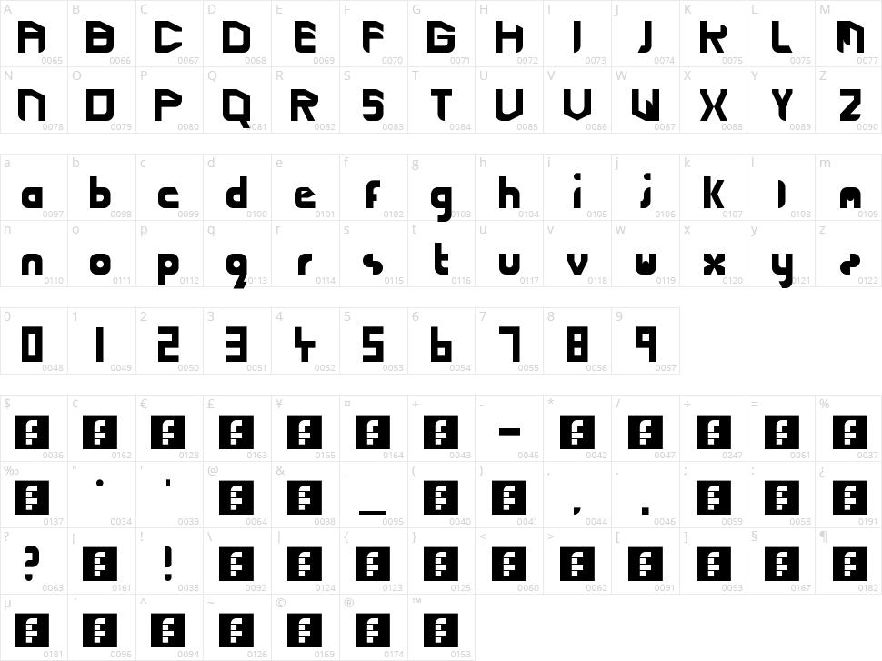 Cutting Edge Lightspeed Character Map