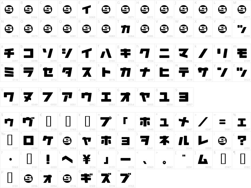 Daidoh Remix JKA Character Map