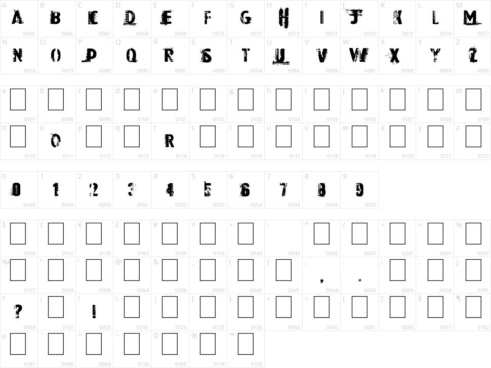 Dark Room Character Map