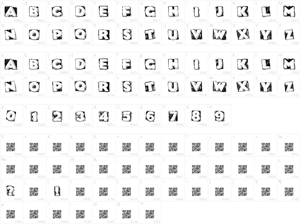 Dat Box Character Map