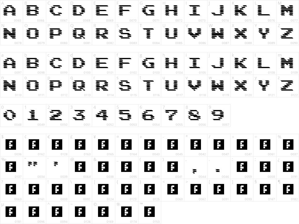 DeadCRT Character Map