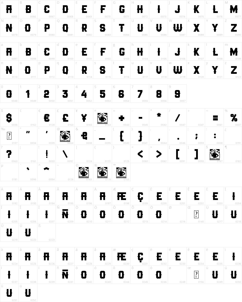 Depalma Character Map